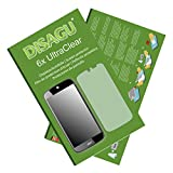 6x Ultra Clear Screen Protector for Acer Liquid Jade S55 (intentionally smaller than the display due to its curved surface)