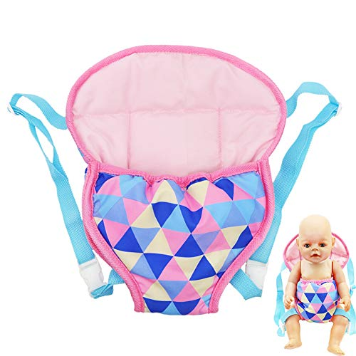 yamaso Doll Carrier Backpack Doll Accessories Front and Back Sling with Straps for 14 Inch to 18 Inch Dolls(Doll not Included).