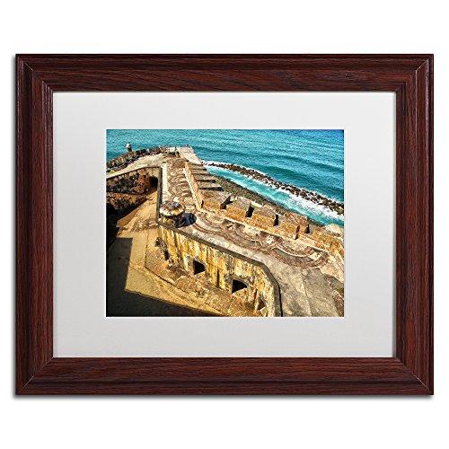 Castillo de San Felipe del Morro 6 by CATeyes, White Matte, Wood Frame - Citadel Commerce