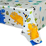 WERNNSAI Dinosaur Party Tablecloth - Dinosaur Party Suppliesfor Kids Boys Birthday Wedding Baby Shower Decoration 1 Pack Disposable Printed Plastic Table Cover for Rectangle Table