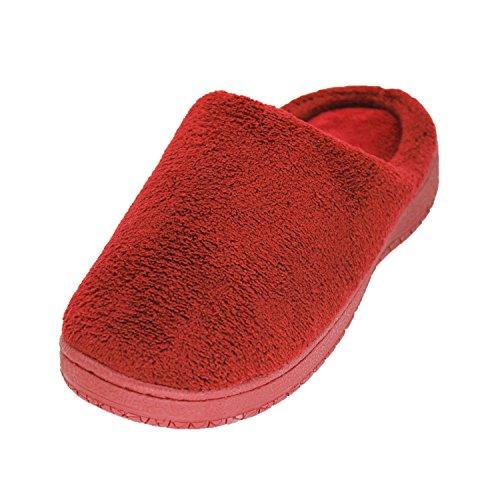 Foam fleece Warm Women's Memory Red Slippers bestfur Cozy Coral House 1wxn7Y4YIO