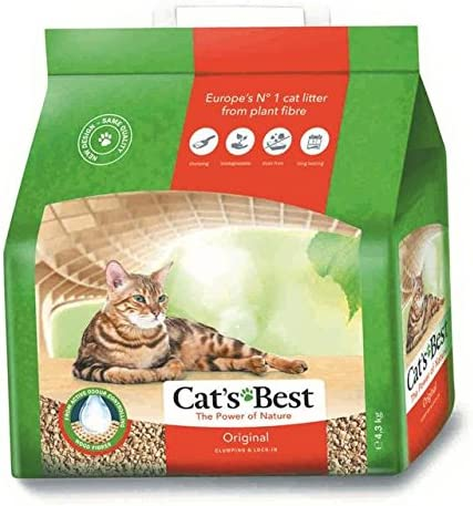 Arena biodegradable para gatos 10 litros: Amazon.es: Hogar