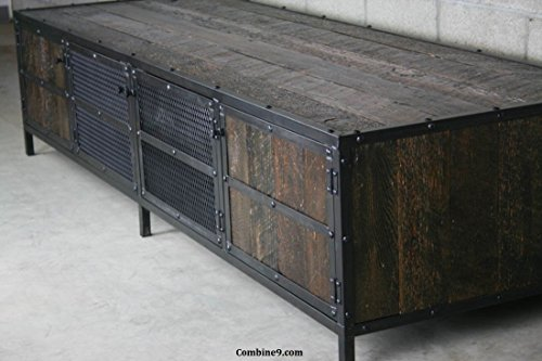 Industrial Credenza - Urban, Vintage TV Stand. Reclaimed Wood