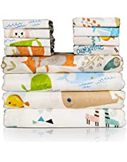 Baby Swaddle Blankets and Baby Washcloths Set