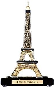 zyl Crystal Eiffel Tower Model World Famous Model Souvenir Home Decoration Sculpture Gift Living Room Bedroom Golden
