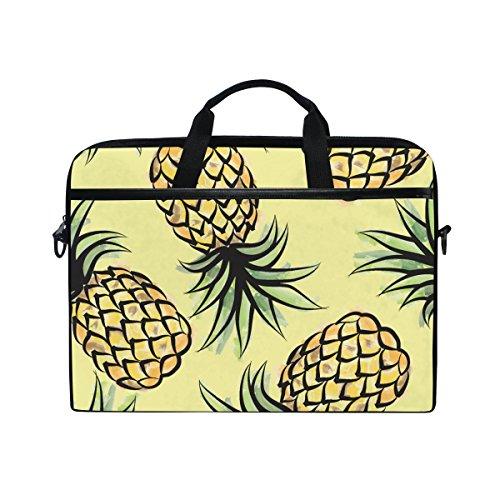 JSTEL Pineapple Tropical Jungle Laptop Shoulder Messenger Bag Case Sleeve for 14 inch to 15.6 inch with adjustable Notebook Shoulder Strap (Jungle Pineapple)
