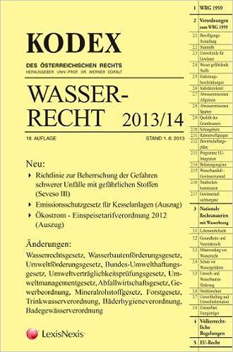 Auszug Aus Büchern Oder Stoffen kodex wasserrecht 2013 14 amazon de friedrich hefler werner