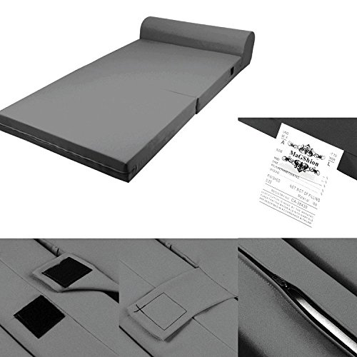Dark Gray Foam Seat Mattress Sleeper Chair Folding Floor Bed Kid Bed (Full) by Magshion Furniture