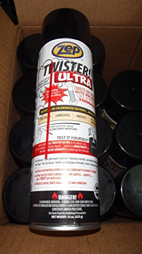 (ZEP Twister Ultra Lubricant 12 Cans/cs Twist Off Rusted Nuts & Bolts)