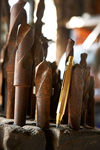TROIKA ZIMMERMANN 5,6 – PEN56/AB – Carpenter's pencil – for architects– clutch pencil (5.6 mm HB lead) – centimetre/inch ruler – 1:20 m/1:50 m scale – TROIKA-original