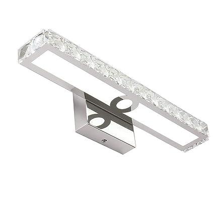 pretty nice 6bbaf 6d3e5 16W LED Vanity Lights 42cm Bathroom Lighting Fixture Crystal Wall Lights  Mirror, Cold White