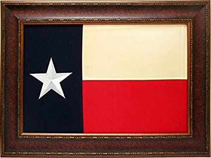 Large Texas Flag Framed Aged Usa Real Rustic Western Framed Wall Art