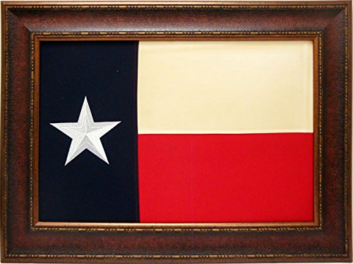 Large Texas Flag Framed Aged USA Real Rustic Western Framed Wall Art by R&R