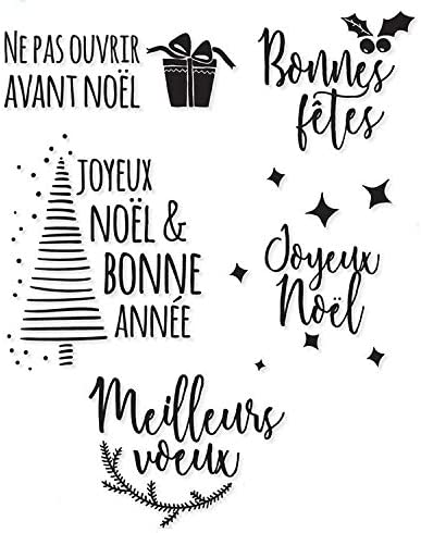 Davitu French Christmas stamp Clear Stamp Or stamp for DIY Scrapbooking//Card Making//Kids Fun Decoration Supplies