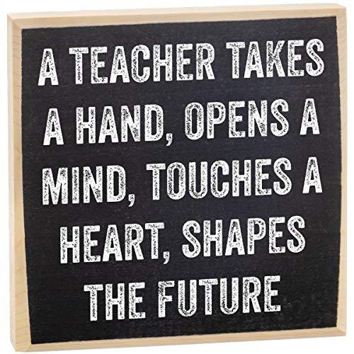 Make Em Laugh Teacher Takes a Hand Wooden Sign