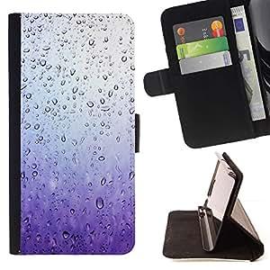 For Samsung Galaxy J3(2016) J320F J320P J320M J320Y Case , Ventana Purple Rain Sad- la tarjeta de Crédito Slots PU Funda de cuero Monedero caso cubierta de piel