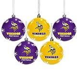 Minnesota Vikings 2016 5 Pack Shatterproof Ball Ornament Set