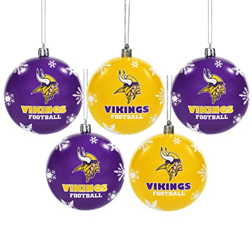 (Minnesota Vikings 2016 5 Pack Shatterproof Ball Ornament)