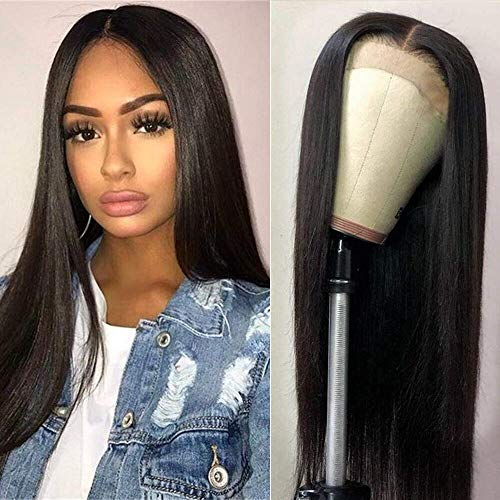 LSY Hair Brazilian Straight Hair Lace Front Wigs For Black Women Human Hair With Baby Hair 13×4 Lace Front Wigs 150% Density 100% Unprocessed Virgin Human Hair (18inch) (Best Wigs For Black Hair)