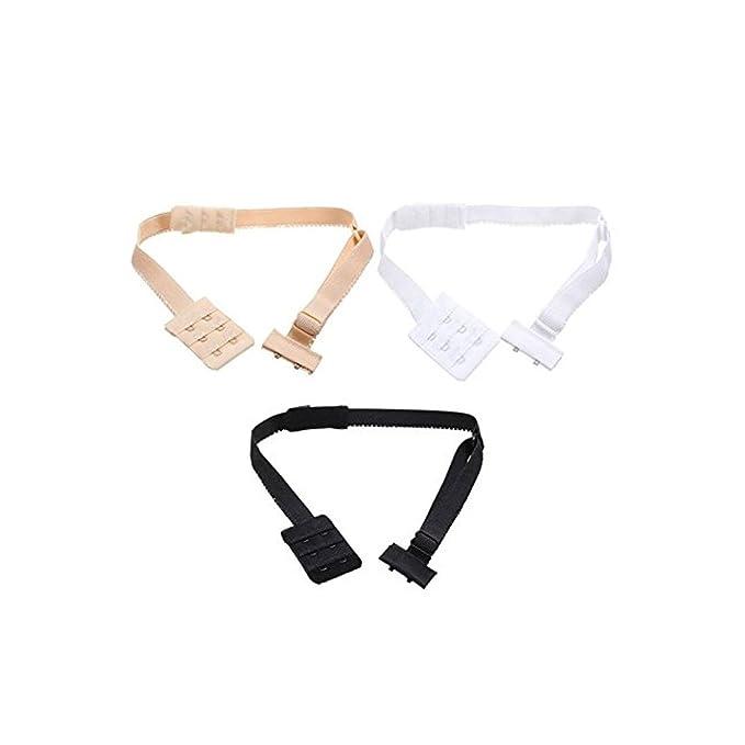 Simply Gorgeous Sin espalda baja espalda sujetador correa convertidor - negro, blanco y desnudo: Amazon.es: Ropa y accesorios