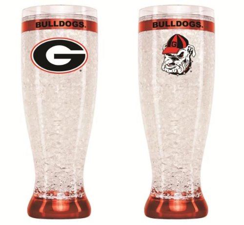 Art Glass Georgia (Duck House NCAA Georgia Bulldogs 16oz Crystal Freezer Pilsner)