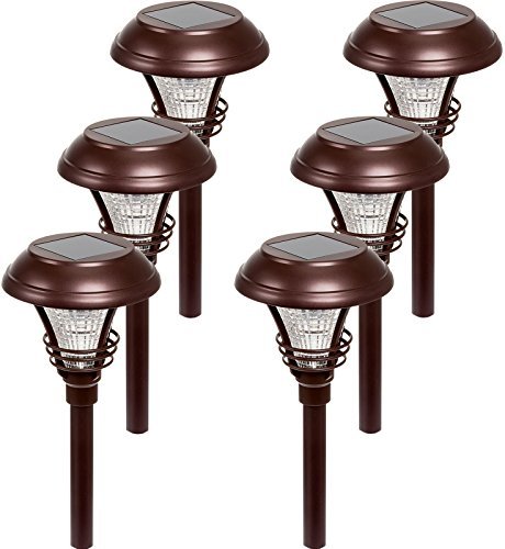 Westinghouse Kenbury 10 Lumens LED Garden Solar Path Lights (Bronze, 6 Pack) -