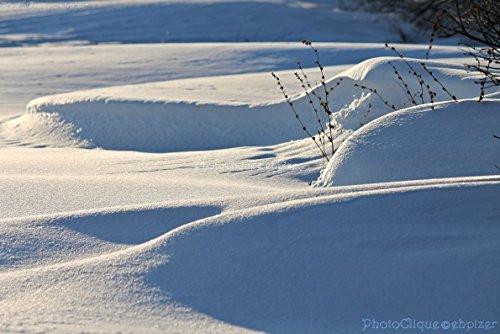 Drifting / Peaceful Winter Scene of Snow & Snowdrifts / Landscape / Fine Art Photography Print (Snow Drifting)