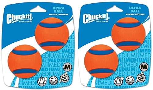 Canine Hardware ChuckIt! Medium Ultra Balls Classic 4-Pack