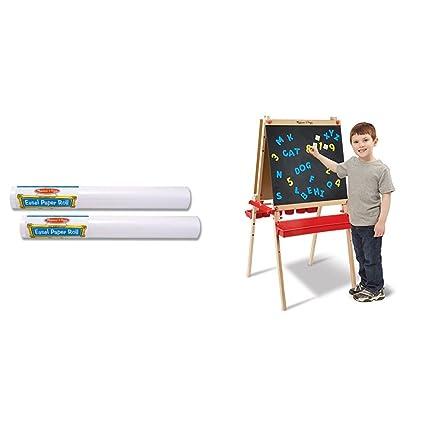 Amazon Com Melissa Doug Easel Paper Roll 18 X75 Set Of 2