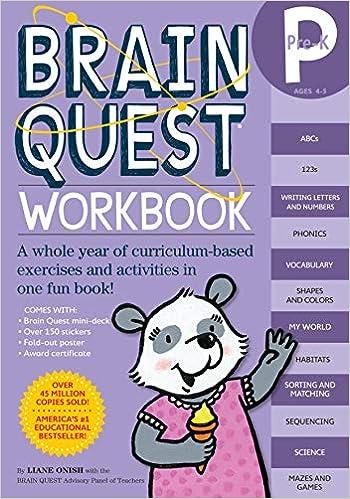 Brain Quest Workbook: Pre-K: A whole year of curriculum ...