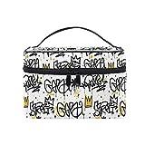 Toiletry Bag Multifunction Cosmetic Bag Portable Toiletry Case Waterproof Travel Organizer Bag for Women Girls Hiphop Pattern
