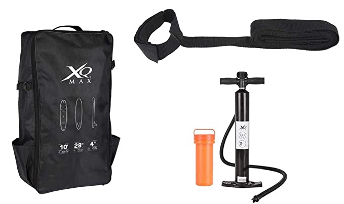 XQ Max Professional Inflatable Stand Up Paddle Board Surfboard Oars Backpack Air Pump Package Kit Set Water Sports Darkblue