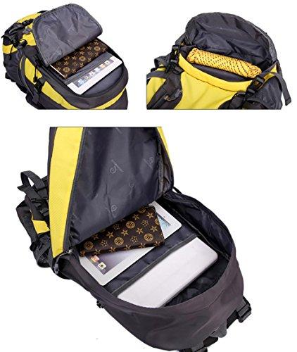 40L al aire libre del bolso del alpinismo hombres y mujeres ultraligeros mochila de senderismo de gran capacidad mochila , yellow Yellow