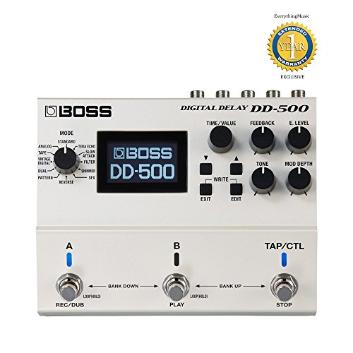 Boss DD-500 Digital Delay Pedal with 1 Year Free Extended - Digital Boss Dd7 Guitar Delay