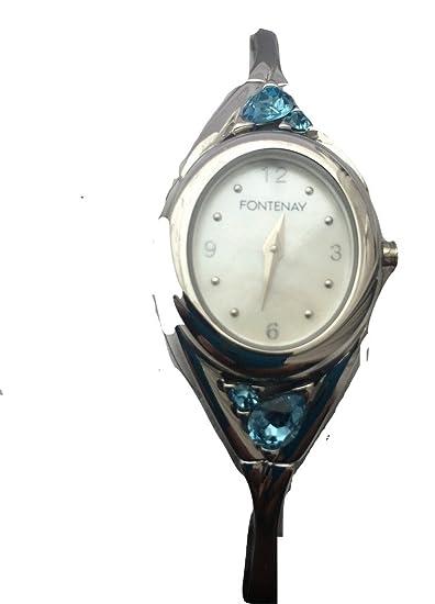 Fontenay reloj coleccionistas tema topacio madre de perla de piedras preciosas para las mujeres