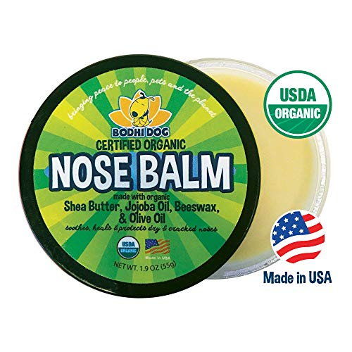 (Organic Nose Balm for Dogs & Cats | All Natural Soothing & Healing for Dry Cracking Rough Pet Skin | Protect & Restore Cracked and Chapped Dog Noses)