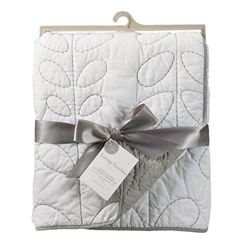 on Poplin Comforter – White/Grey – Classic, Elegant Cotton Comforter, Lightweight And Soft Baby Comforter For Crib, Stroller & Tummy Time (Time Baby Crib)