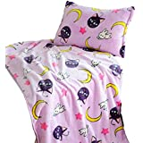 GK-O Sailor Moon Blanket Tsukino Usagi Cosplay Purple Luna Blanket (Blanket 59.05in×78.74in)