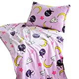 GK-O Sailor Moon Blanket Tsukino Usagi Cosplay Purple Luna Blanket (Pillowcase 24.40in×16.92in)