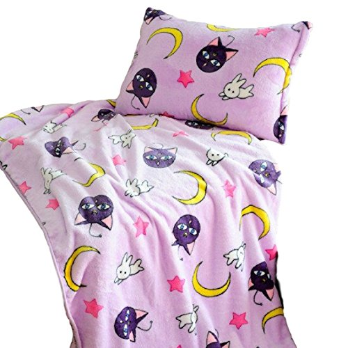 - GK-O Sailor Moon Blanket Tsukino Usagi Cosplay Purple Luna Blanket (Pillowcase 24.40in×16.92in)