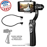 EVO Shift Camera Stabilizer - Handheld Gimbal for iPhone or Android Smartphones Black - Bundle Includes: EVO Shift and iPhone Charging Cable (2 Items)