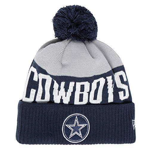 Dallas Cowboys New Era Mens Patch Knit Hat (Dallas New Era Beanie)