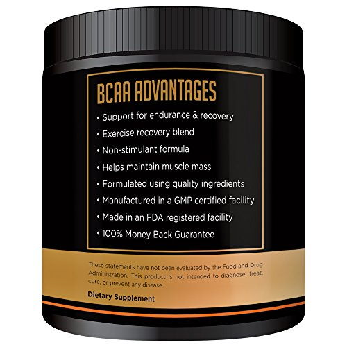 NutraFX BCAA Powder - NutraFX BCAA Powder - New Improved Formula - No Bitterness - Branched Chain Amino Acids 2:1:1 Ratio Improved Muscle Building Recovery Formula - 40 Servings (Flavored with Shaker)