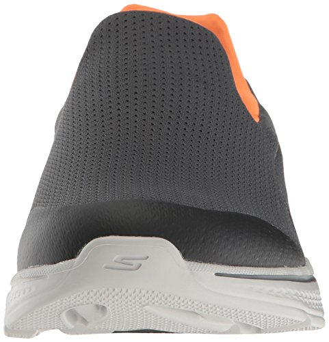 Skechers Performance Mens Go Walk 4 Incredibile Scarpa Da Passeggio Carboncino / Arancio
