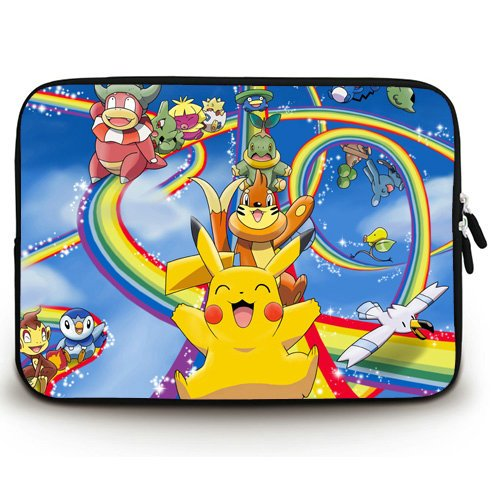 10b8c4848b3 Anime Laptop Sleeve with Pokemon(22) Patterns Waterproof Canvas Fabric 15  15.6 Inch Laptop Bag Case Cover(Twin Sides)