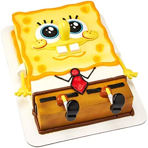 Amazon.com: Bob Esponja Squarepants Creations Cake Topper ...