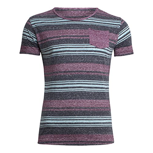 "T-Shirt ""Pressure"" - von Key Largo - Farbe dark red-navy"
