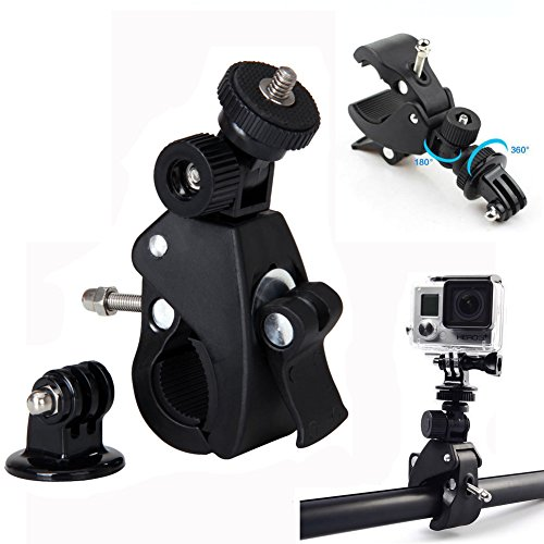 Bike Bicycle Motorcycle Handlebar Handle Bar Camera Mount + Tripod Adapter For Digital Cameras SJCAM SJ4000 SJ5000