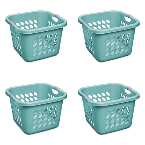 STERILITE 1.5 Bushel/53 L Ultra Square Laundry Basket, Teal Splash,(Case of ()