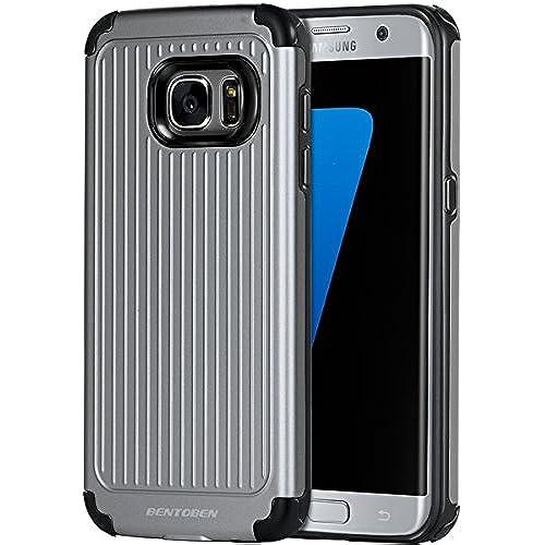 Galaxy S7 Edge Case, S7 Edge Case, BENTOBEN Antiskid Bumper Protective Slim Shock Absorbing TPU Case Hybrid Dual Layer Combo PC Hard Skin Cover for Sales